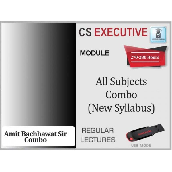 CS Executive All Subjects Combo New Syllabus : Video Lecture + Study Material (For Dec. 2019 & June 2020)
