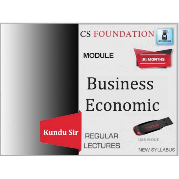 CS Foundation Programme Business Economics Regular Course : Video Lecture + Study Material By Kundu Sir (For Dec. 2019)