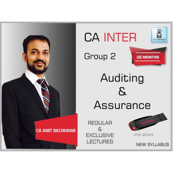 CA Inter Audit Regular Course : Video Lecture + Study Material By Amit Bachhawat (For May 2020 & Nov. 2020)