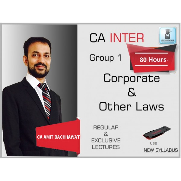 CA Inter Law New Syllabus Regular Course : Video Lecture + Study Material By CA Amit Bachhawat (For MAY 2020 & Nov. 2020)
