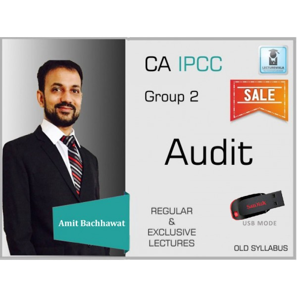 CA Ipcc Audit and Assurance Regular Course : Video Lecture + Study Material By CA Amit Bachhawat (For Nov. 2019)