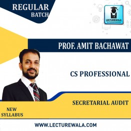 CS Professional Secretarial Audit Compliance Management & Due diligence New Syllabus : Video Lecture + Study Material By Amit Bachhawat (For Dec. 2021)