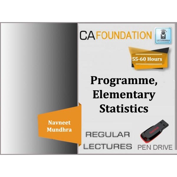 CA Foundation Programme, Elementary Statistics Regular Course : Video Lecture + Study Material By Navneet Mundhra Sir (For Dec. 2019)