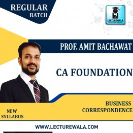 CA Foundation BCR New Syllabus Regular Course : Video Lecture + Study Material By CA Amit Bachhawat (For NOV.2021)