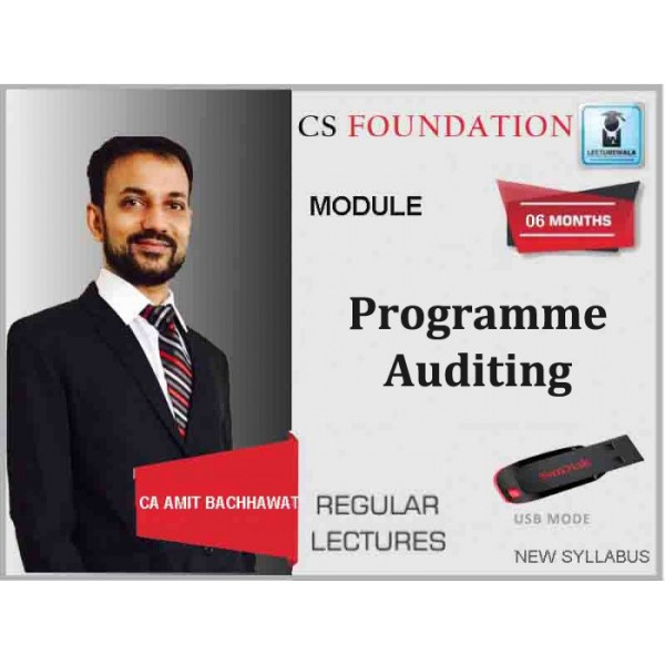 CS Foundation Programme, Auditing Regular Course : Video Lecture + Study Material By Amit Bachhawat (For Dec. 2019)