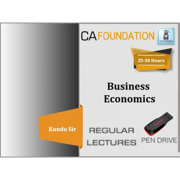 CA Foundation Business Economics Regular Course : Video Lecture + Study Material By Kundu Sir (For May 20 & Nov.20)