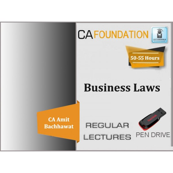 CA Foundation Business Law Regular Course : Video Lecture + Study Material By Amit Bachhawat (For Nov. 2019)