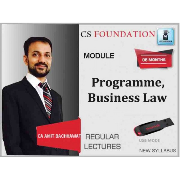 CS Foundation Programme, Business Law : Video Lecture + Study Material By Amit Bachhawat (For Dec. 2019)