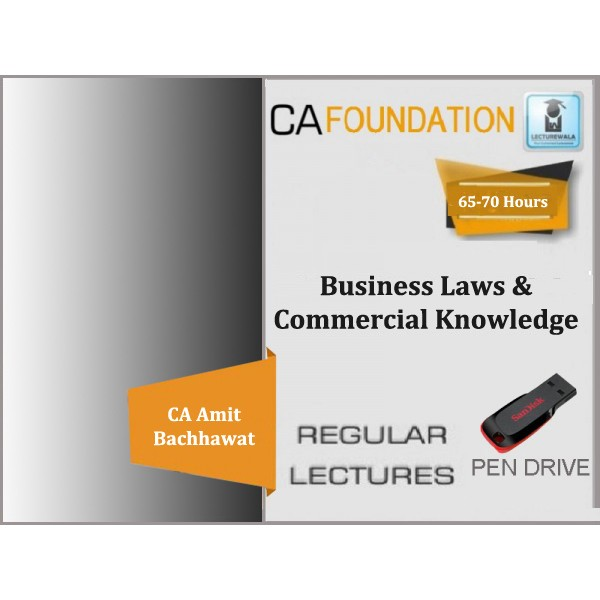 CA Foundation Business Law & Commercial Knowledge Regular Course : Video Lecture + Study Material By Amit Bachhawat (For Nov. 2019)