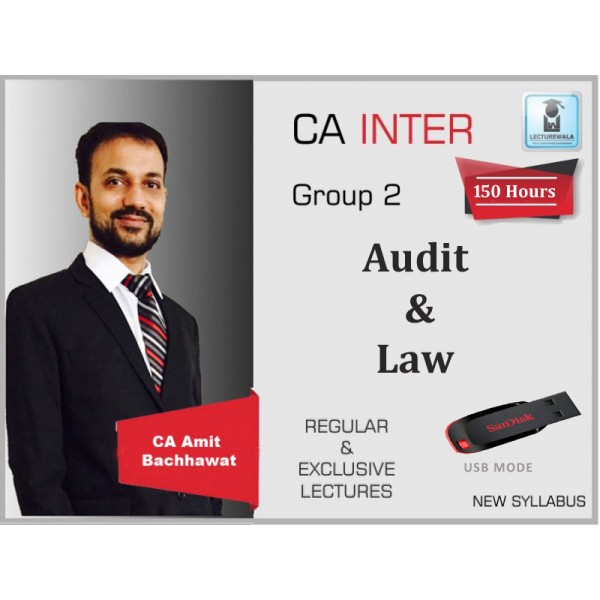 CA Inter Audit And Law Combo Regular Course : Video Lecture + Study Material By Amit Bachhawat (For Nov. 2019 & Mat 2020)
