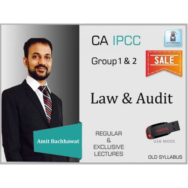 CA Ipcc Law & Audit Combo Regular Course : Video Lecture + Study Material By Amit Bachhawat (For May 2020 & Nov. 2020)