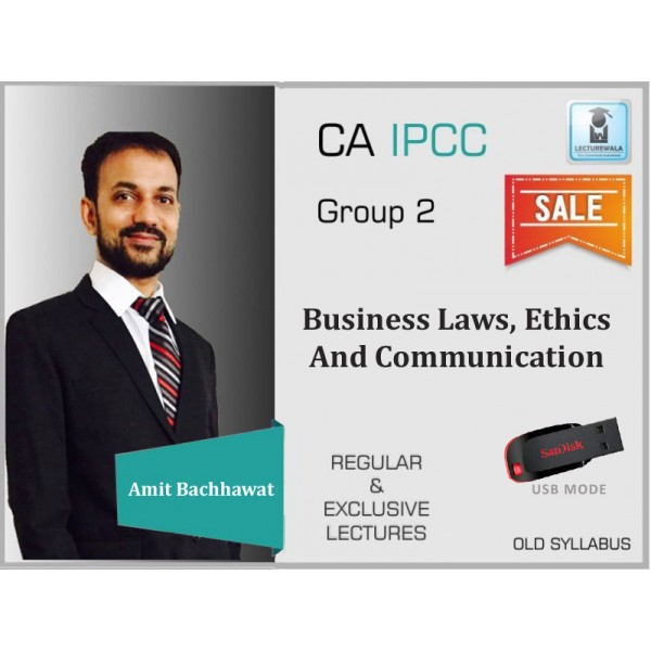 CA Ipcc Business Laws, Ethics And Communication Regular Lecture : Video Lecture + Study Material By CA Amit Bachhawat (For Nov. 2019)