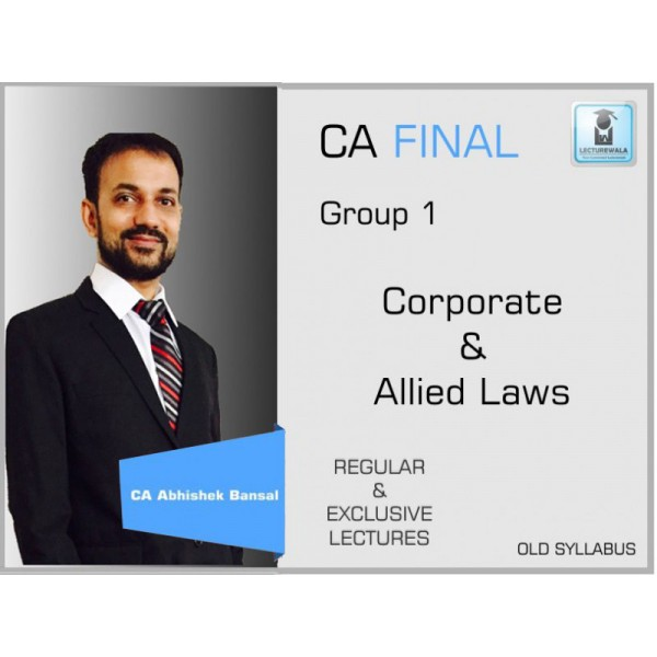 CA Final Law Old Syllabus Regular Course : Video Lecture + Study Material By CA Amit Bachhawat (For Nov. 2019 & May 2020)