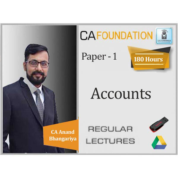 CA Foundation Accounting : Video Lecture + Study Material By CA Anand Bhangariya (For May 2020)
