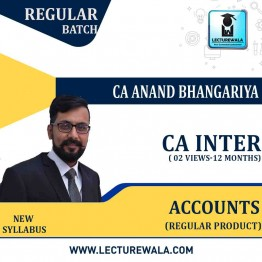CA Inter Accounting (G 1) Regular Course New Recording : Video Lecture + Study Material by CA Anand Bhangariya (For Nov. 2021)