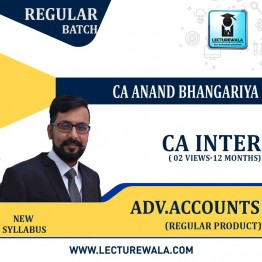CA Inter Advance Accounting : Video Lecture + Study Material By CA Anand Bhangariya (For May 2021 & Nov. 2021)
