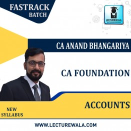 CA Foundation Accounting  Fastrack : Video Lecture + Study Material By CA Anand Bhangariya (For  Nov. 2021 & May 2022)