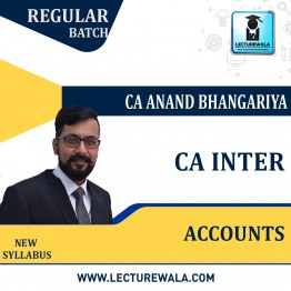 CA Inter Accounting (G 1) (1.3 / 1.5 VIEWS 04 / 09 MONTHS) Regular Course New Recording : Video Lecture + Study Material by CA Anand Bhangariya (For  Nov. 2021)