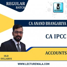 CA Ipcc Accounting : Video Lecture + Study Material By CA Anand Bhangariya (For  May / Nov. 2021)