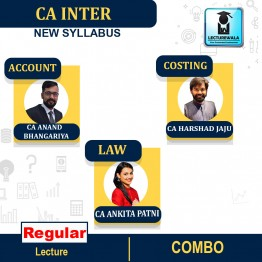 CA Inter Accounts + Costing + Law Combo Full Course : Video Lecture + Study Material By CA Ankita Patni and CA Anand Bhangariya & CA Harshad Jaju (For NOV. 2021 / MAY 2022 )
