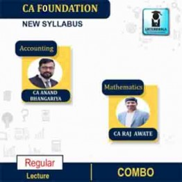 CA Foundation Mathematics & Accounting Regular Course Combo : Video Lecture + Study Material By Prof. Raj Awate & CA Anand Bhangariya (For Nov 2021 & May 2022)