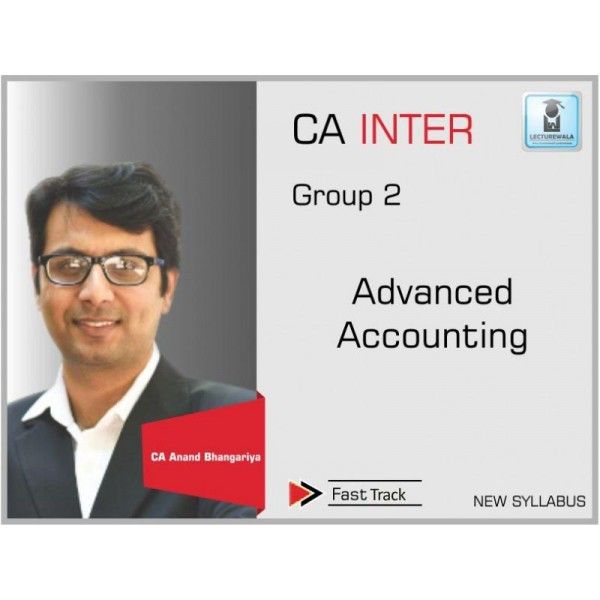 CA Inter Advance Accounts Crash Course : Video Lecture + Study Maretial By CA Anand Bhangariya (For May & Nov. 2019)