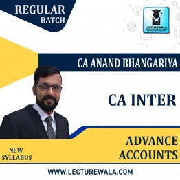 CA Inter Advance Accounting New Recording : Video Lecture + Study Material By CA Anand Bhangariya (For Nov. 2021 & May 2022)