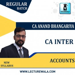 CA Inter Accounting (G 1) New Recording : Video Lecture + Study Material by CA Anand Bhangariya (For Nov. 2021 & May 2022)