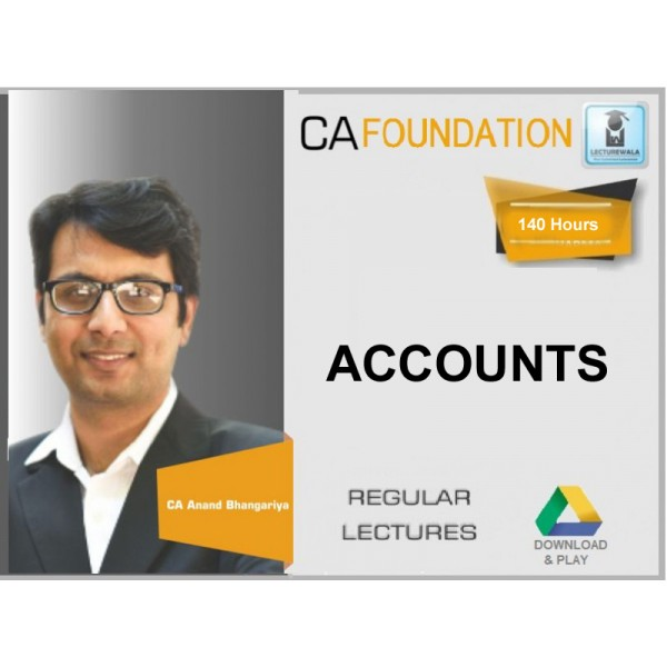 CA Foundation Accounting : Video Lecture + Study Material By CA Anand Bhangadiya (For May & Nov. 2019)