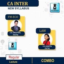 CA Inter Fm-Eco & Law Combo Regular Course : Video Lecture + Study Material By CA Swapnil Patni & CA Ankita Patni (For Nov. 2021 & May 2022)
