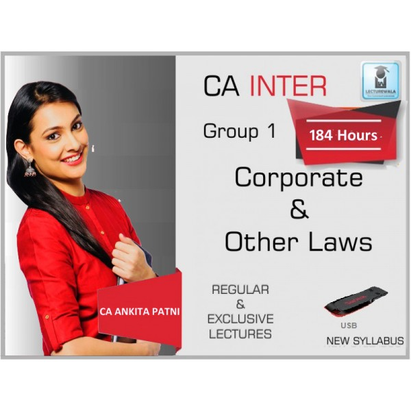 CA Inter Law New Syllabus Regular Course : Video Lecture + Study Material by CA Ankita Patni (For May 2020 & Onwards)