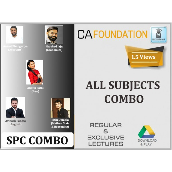 CA Foundation All Subject Combo : Video Lecture + Study Material (For Nov. 2019)