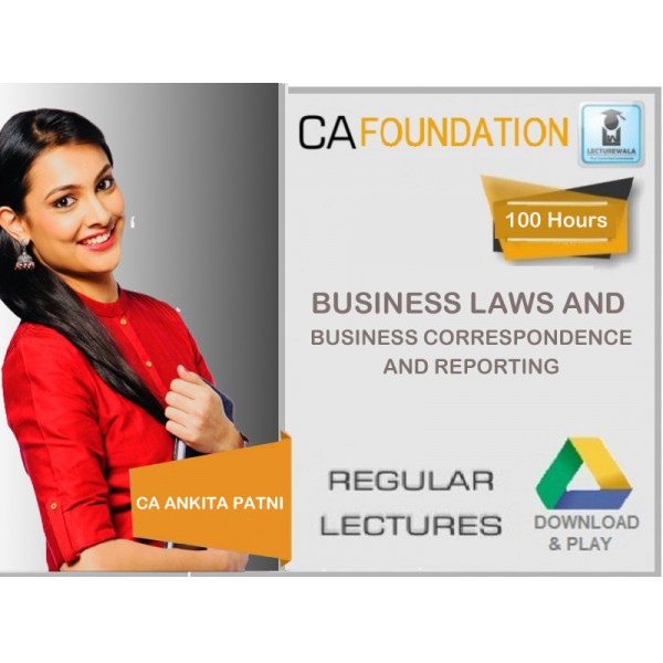 CA Foundation Business Laws & Business Correspondence & Reporting On Drive : Video Lecture + Study Material by CA Ankita Patni (For May & Nov. 2019)