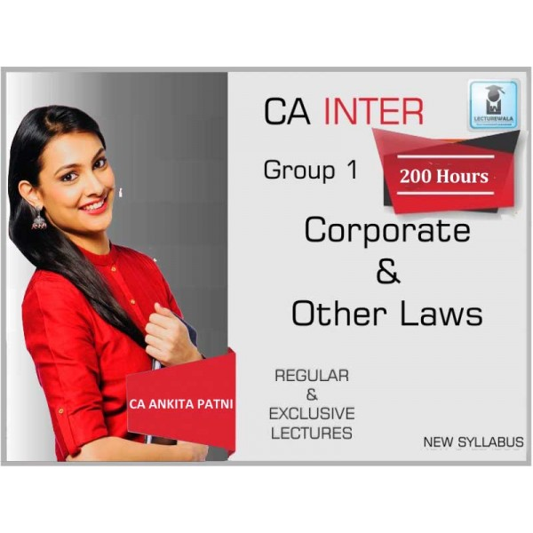 CA Inter Law New Syllabus Regular Course : Video Lecture + Study Material by CA Ankita Patni (For May 2020 & Nov. 2020)