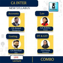 CA Inter Group-1 Combo Full Course Online Live Streaming batch by Swapnil Patni Classes (For May 2022)