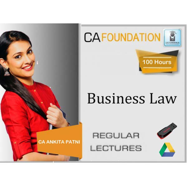 CA Foundation Business Laws : Video Lecture + Study Material by CA Ankita Patni (For Nov. 2019)
