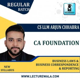 CA Foundation Business Laws & BCR New Syllabus Regular Course : Video Lecture + Study Material By CS LLM Arjun Chhabra (For May 2021 / Nov 2021 / May 2022)