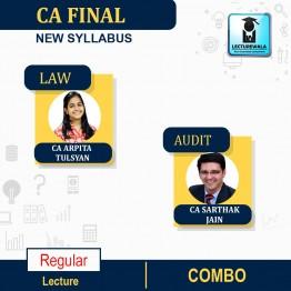 CA Final Combo (Audit & Law) New Syllabus Regular Course : Video Lecture + Study Material By CA Sarthak Jain & CA Arpita Tulsyan (For Nov.2021 & May 2022 & Onwards)