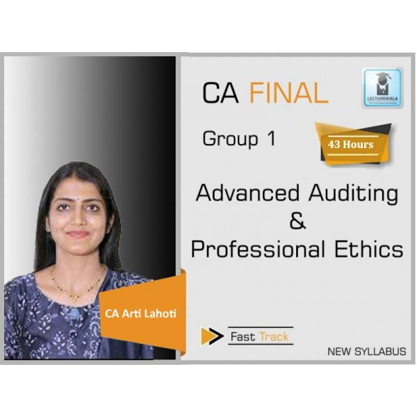 CA Final Audit New Syllabus Marathon Revision  : Video Lecture + Study Material By CA Aarti Lahoti (For Nov. 2019)