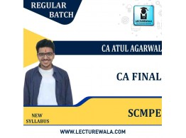 CA Final SCMPE Regular Course : Video Lecture + Study Material By  CA Atul Agarwal (For Dec 2021)