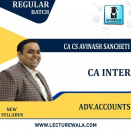CA Inter Adv. Accounts (Group 2) New Syllabus Regular Course : Video Lecture + Study Material By CA Avinash Sancheti  (For Nov. 2021)