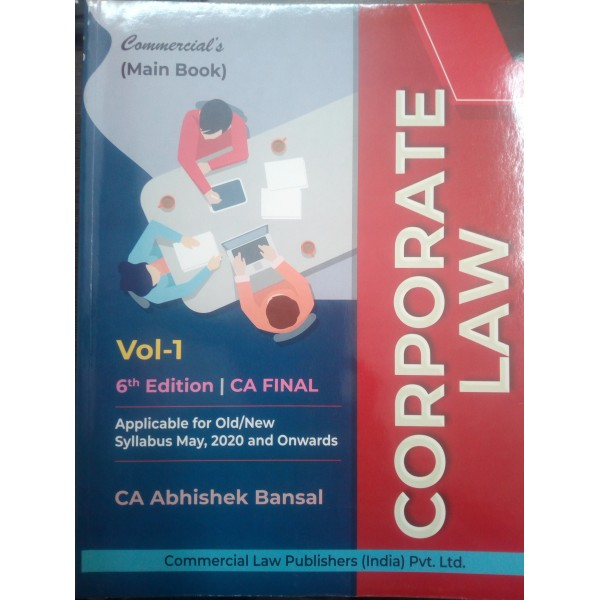 CA Final Law Old & New Syllabus 6th Latest Edition : Study Material By CA Abhishek Bansal (For May 2020 & Nov. 2020)