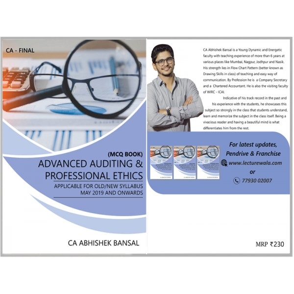 CA FINAL AUDIT (OLD & NEW COURSE) MAIN BOOK BY CA ABHISHEK BANSAL (FOR MAY 2019 & ONWARD)