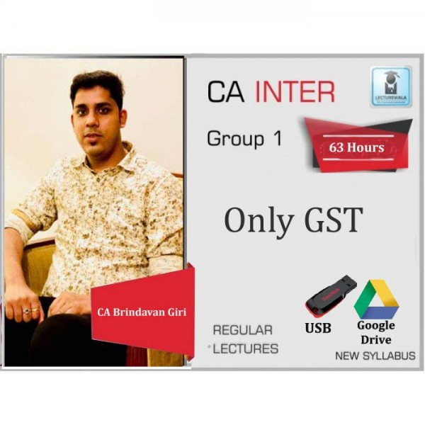 CA Inter Indirect  Tax Regular Course : Video Lecture + Study Material By CA Brindavan Giri (For May 2020 & Nov. 2020)