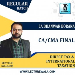 CA Final Direct Tax & International Taxation New Recording (Pre-Order) Regular Course : Video Lecture + Study Material By CA Bhanwar Borana (For May 2022 & Nov.2022)