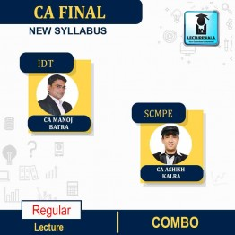 CA Final SCMPE And IDT(GST & CUSTOM) New Syllabus Regular Course COMBO: Video Lecture + Study Material By CA Ashish Kalra and CA Manoj Batra  (For Nov 2021 & May 2022)