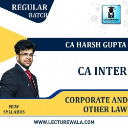 CA Inter Corporate And Other Law Regular Course: Video Lectures + Study Materials by CA Harsh Gupta (For May 2021 & Nov. 2021)