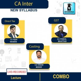 CA Inter Dt+GST+Costing Combo Newly Live Stream + Recorded Full Course : Video Lecture + Study Material By V Smart (For May 2022 & Nov.2022)