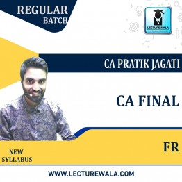 CA Final Financial Reporting Regular Course : Video Lecture + Study Material By CA Pratik Jagati (For Nov. 2021 to May 2023)