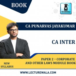 CA Inter Paper 2 – Corporate and Other Laws Module Book : By CA Punarvas Jayakumar (For Nov. 2021 & May 2022)